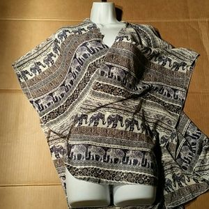 Live 4 Truth Open Blue and White Tunic. L